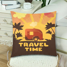 "Load image into Gallery viewer, TRAVEL TIME Throw Pillow Cover 18""x 18"" (Twin Sides) (Set of 2)"