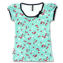 Load image into Gallery viewer, LIQUORBRAND DAISY CHERRY GREEN Tshirt