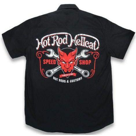 HOTROD HELLCAT BUTTON UP WORK SHIRT DEVIL