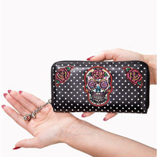 Load image into Gallery viewer, DIA DE MUERTOS WALLET by BANNED APPAREL UK