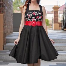 Load image into Gallery viewer, POKER QUEEN Rockabilly 50s Dresses front | POISON ARROW RETRO