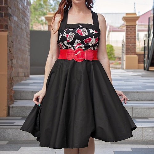 POKER QUEEN Rockabilly 50s Dresses front | POISON ARROW RETRO