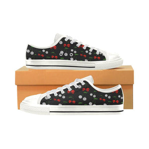 CHERRY SKULLS n DICE Retro Style Sneakers