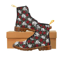 Load image into Gallery viewer, Mini Skulls & Roses Women's Lace Up Combat Boots