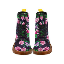Load image into Gallery viewer, Antique Roses Women's Lace Up Combat Boots