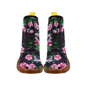 Antique Roses Women's Lace Up Combat Boots