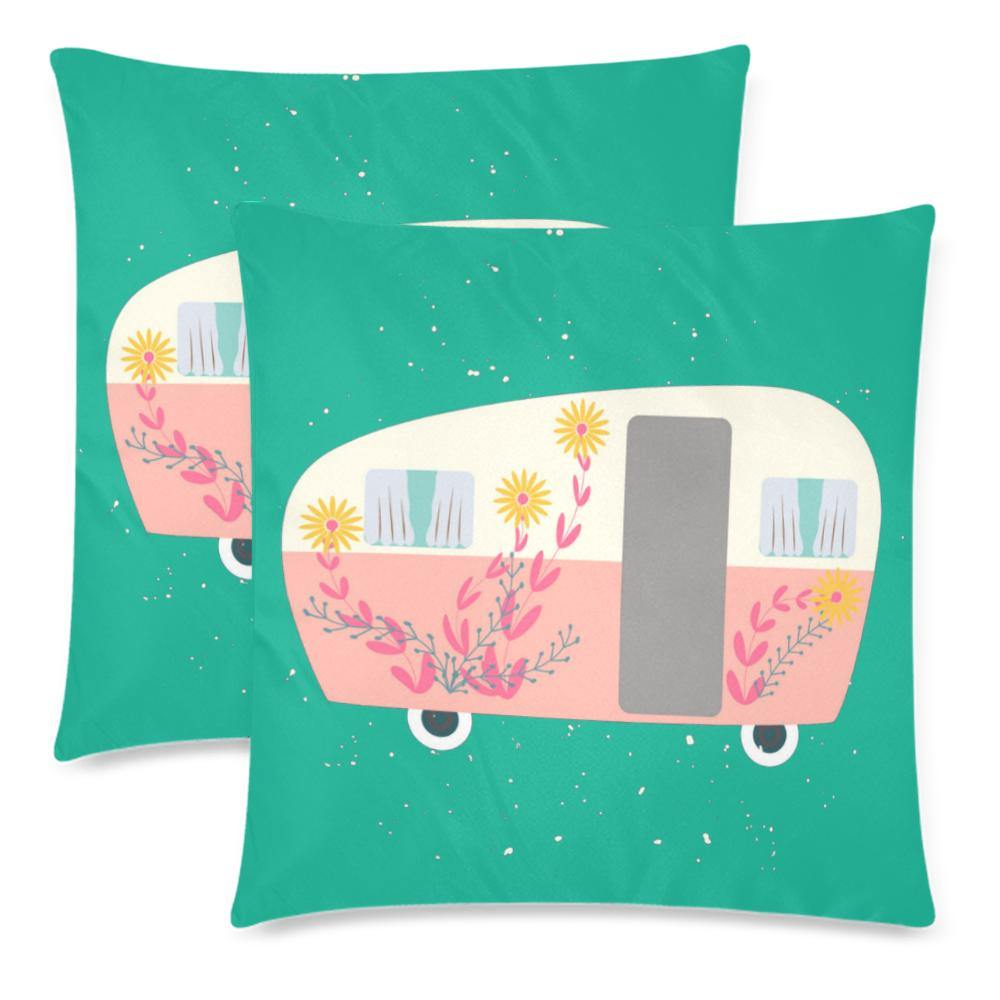 RETRO VAN Throw Pillow Cover 18