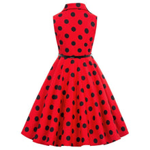Load image into Gallery viewer, ladies rockabilly retro diner polka dot 1950s dress