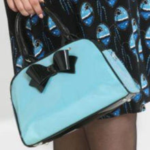 Load image into Gallery viewer, Hell Bunny Lola Bag Sky Blue / Black