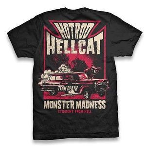 HOTROD HELLCAT MENS TSHIRT MONSTER MADNESS