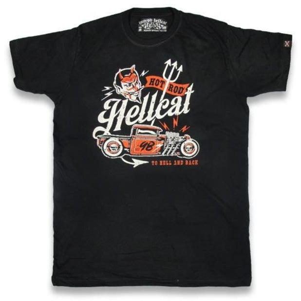HOTROD HELLCAT MENS TSHIRT TO HELL AND BACK
