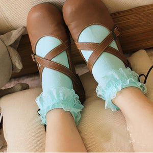 Frilly Lacy Lolita Bobby Ladies Socks Various Colours