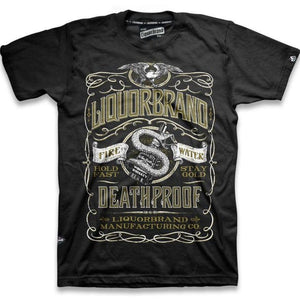 mens rockabilly whiskey deathproof tshirt liquorbrand