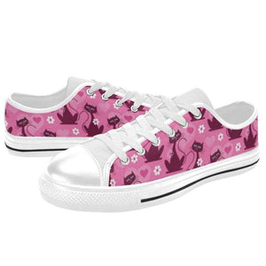 LOVECATS WHITE Retro Style Sneakers