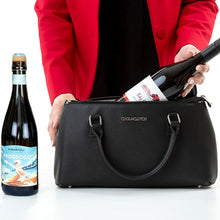 Load image into Gallery viewer, Amy Cool Clutch (Black) 2 Bottle Cooler bag