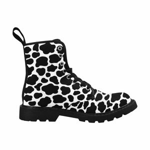 Moo Cows Lace Up Combat Boots
