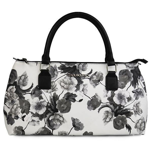 Barbara Cool Clutch (Black & White Flower) Wine Cooler bag handbag insulated wine lunch handbags