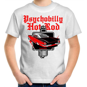 PSYCHOBILLY HOTROD Kids Youth Crew T-Shirt 2-14