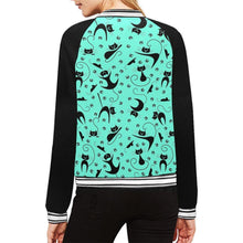 Load image into Gallery viewer, CAT & MOUSE MINT Women's Varsity Jacket XS-2XL