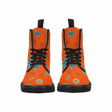 Load image into Gallery viewer, Atomic Orange Lace Up Combat Boots