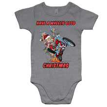 Load image into Gallery viewer, HAVE A WHEELIE GOOD CHRISTMAS - Baby Onesie Romper
