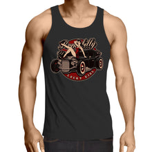 Load image into Gallery viewer, Rockabilly Lucky Girl - Mens Singlet Top