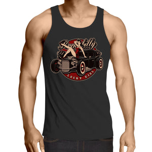 Rockabilly Lucky Girl - Mens Singlet Top