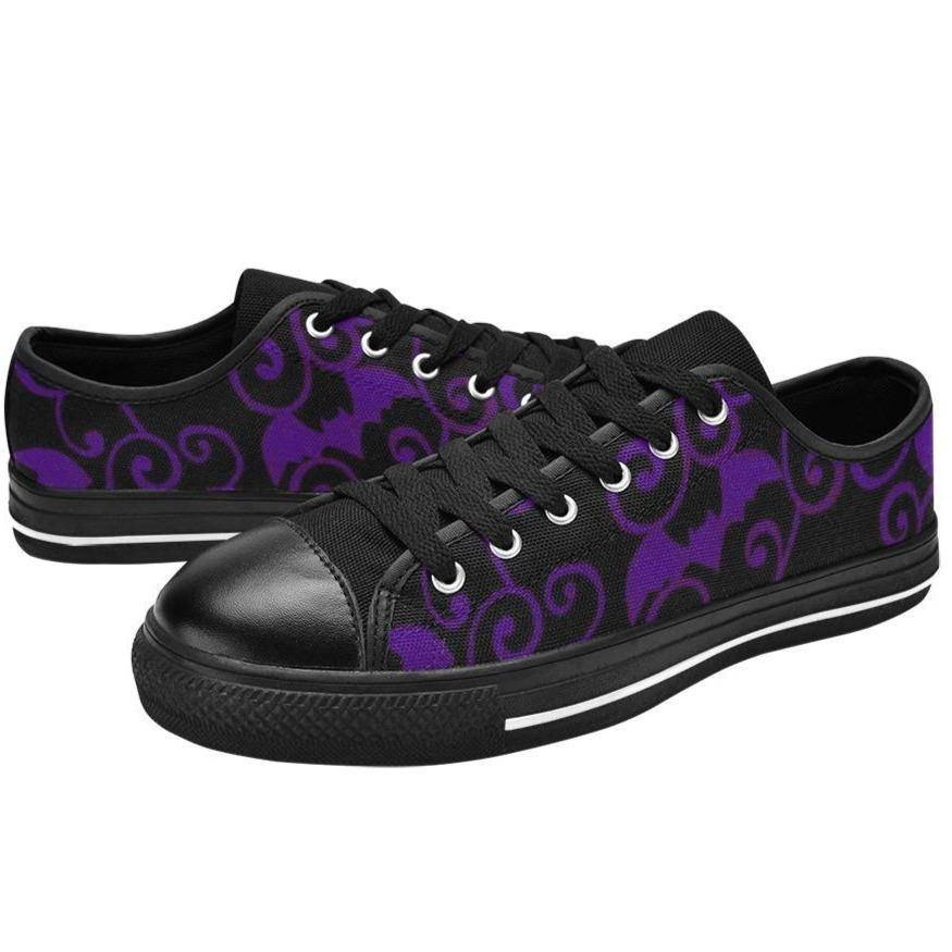 ANTIQUE BATS PURPLE Retro Style Sneakers