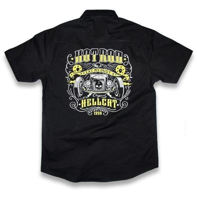 HOTROD HELLCAT BUTTON UP WORK SHIRT Eat My Dust