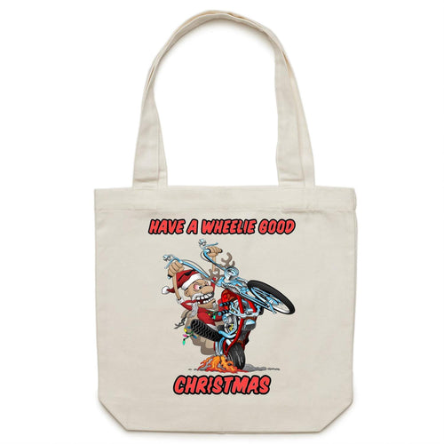 HAVE A WHEELIE GOOD CHRISTMAS - Canvas Tote Bag