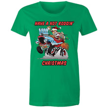 Load image into Gallery viewer, HOT RODDIN' CHRISTMAS TSHIRT - Womens T-shirt 8-20