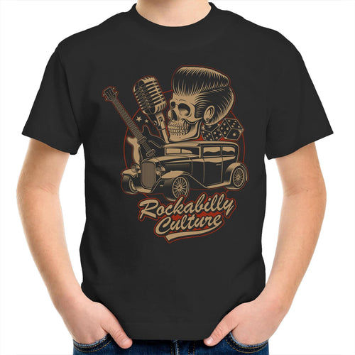 ROCKABILLY CULTURE Kids Youth Crew T-Shirt 2-14