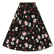Load image into Gallery viewer, HELL BUNNY VIVA LAS VEGAS 50'S Circle Skirt