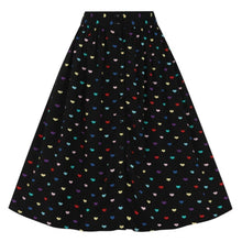 Load image into Gallery viewer, HELL BUNNY TRUE LOVE HEARTS SKIRT AUSTRALIA