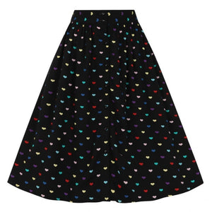 HELL BUNNY TRUE LOVE HEARTS SKIRT AUSTRALIA