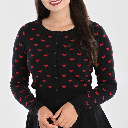 [SPECIAL ORDER] HELL BUNNY CORAZON CARDIGAN  XS-4XL