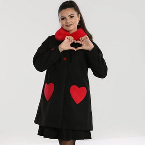 [SPECIAL ORDER] HELL BUNNY CORAZON HEARTS COAT XS-XL