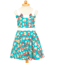 "Load image into Gallery viewer, Poison Arrow Label ""Aqua"" Cupcakes Girl's Rockabilly Dresses"""