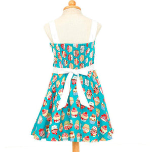 "Poison Arrow Label ""Blue Cupcakes Girl's Rockabilly Dresses"""