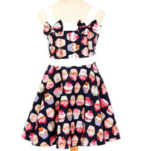 "Poison Arrow Label ""NAVY"" Cupcakes Girl's Rockabilly Dresses"""