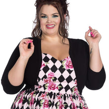 Load image into Gallery viewer, HELL BUNNY MAGGIE BOLERO BLACK XS-4XL