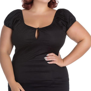 HELL BUNNY MELISSA TOP Black XS to 4XL