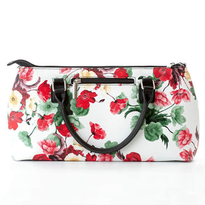 Rosemary Cool Clutch (Green & Red Flowers) Wine Cooler bag