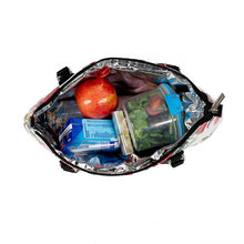 Load image into Gallery viewer, Rosemary Cool Clutch (Green & Red Flowers) Wine Cooler bag
