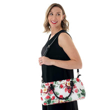 Load image into Gallery viewer, Rosemary Cool Clutch (Green & Red Flowers) Wine Cooler bag handbag insulated wine lunch handbags