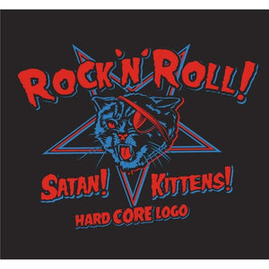 HARDCORE LOGO SATANIC KITTENS Ladies Tshirt S ONLY