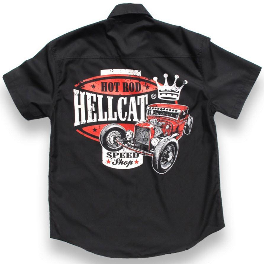 HOTROD HELLCAT BUTTON UP WORK SPEED KING