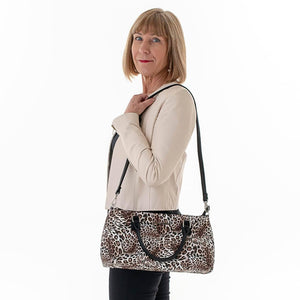 Yvonne Cool Clutch (Leopard) Wine Cooler bag handbag insulated wine lunch handbags