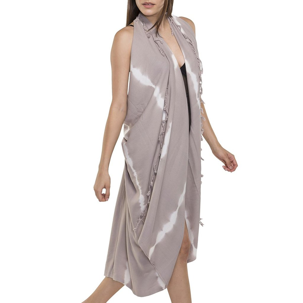 disndatmarket,Sand Tie Dye Turkish Kimono,disNdatmarket,Women - Apparel - Swimwear - Cover Ups