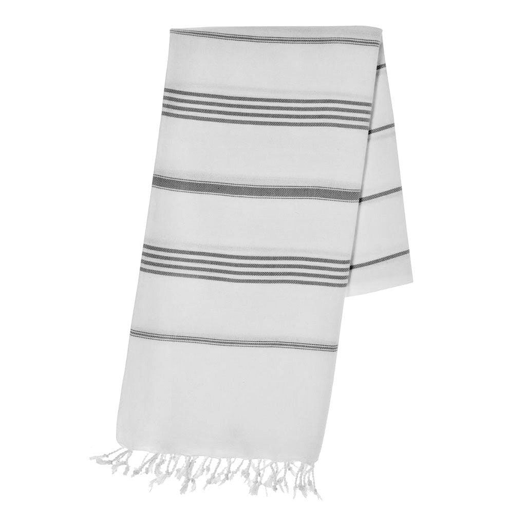 disndatmarket,Classic Black Stripe Turkish Towel,disNdatmarket,Home - Homeware